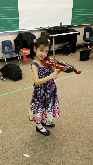 Violin...all smiles